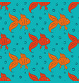 cartoon gold fish vector image