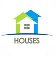 houses arrow logo vector image