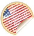 sticker with usa flag vector image