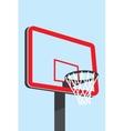 Basketball backboard silhouette vector image