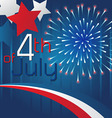 4th of July Background Template Design vector image