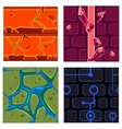 Textures for Platformers Icons Set Games vector image