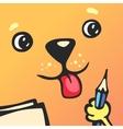 Cartoon character square dog vector image
