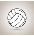 volleyball ball design vector image