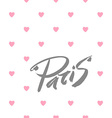 paris love text vector image vector image