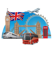 tour in england vector image vector image