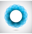 Abstract blue figure vector image