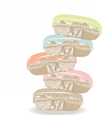 Colorful realistic macaroons vector image