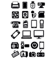 electronic devices icon vector image