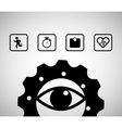 eye gear sport healthy icons vector image