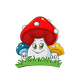 family of fungi vector image