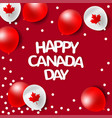 Party balloons for national day of canada vector image
