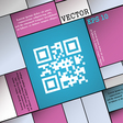 Qr code icon sign Modern flat style for your vector image