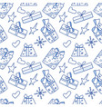 seamless pattern with gift vector image