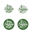Vegan related typography Trendy lettering vintage vector image