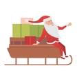 Santa Claus driver sled delivery vector image