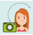 woman camera photo images gallery vector image