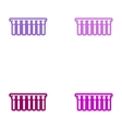 Set of paper stickers on white background garland vector image