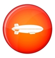 Dirigible balloon icon flat style vector image