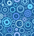 Seamless pattern or different gear wheels vector image