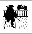 pirate and jolly roger - silhouette vector image