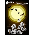 Evil Bats Flying Over The Graveyard Background vector image vector image