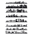 houses and city icons vector image