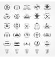 set of vintage bakery logos vector image