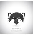racoon icon vector image vector image