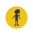 Elf silhouette icon vector image
