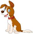 Cartoon dog sitting isolated on white background vector image