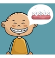 children smile dental healthcare icon vector image
