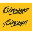 Cinema lettering print vector image