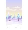 fantasy winter landscape vector image