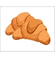 Fresh croissant isolated cartoon vector image