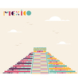 Mexico pyramid travel background vector image