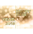 New Year 2018 vector image