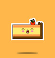 piece of cake kawaii character cartoon emoticon vector image