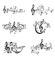 Set of Musical Notes vector image