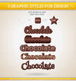 Set of Various Graphic Styles for Design vector image