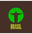 vintage with christ the redeemer statue vector image