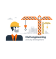Real estate building company under construction vector image