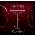 Cocktail for two vector image