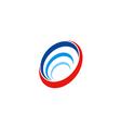 circle round abstract technology sonar logo vector image