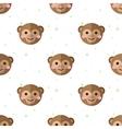 flat cartoon monkey seamless pattern vector image