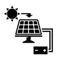 black solar panel icon vector image
