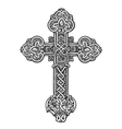 Beautiful ornate cross Sketch vector image