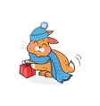 Cat in Hat Isolated Design Flat vector image