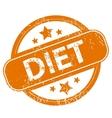 Diet grunge icon vector image