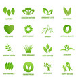 Ecology icon set on white background vector image